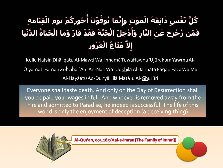 Islamic Quotes ! <<ISLAM—The Greatest Religion >>!-quran-003_185-death-jpg