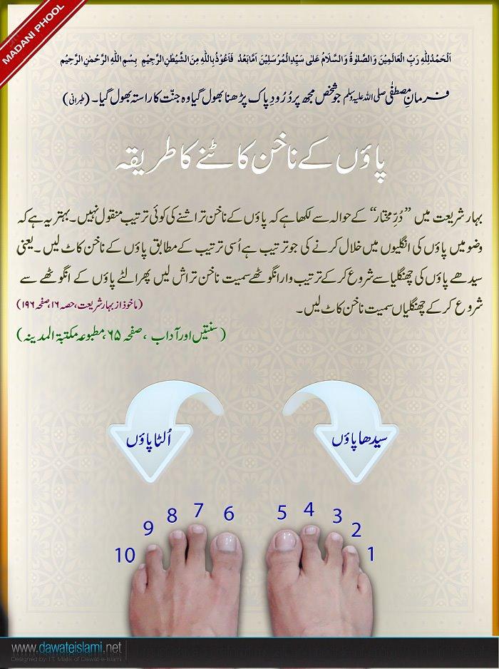 SUNNAH about cutting nails of foot-nakhun-jpg
