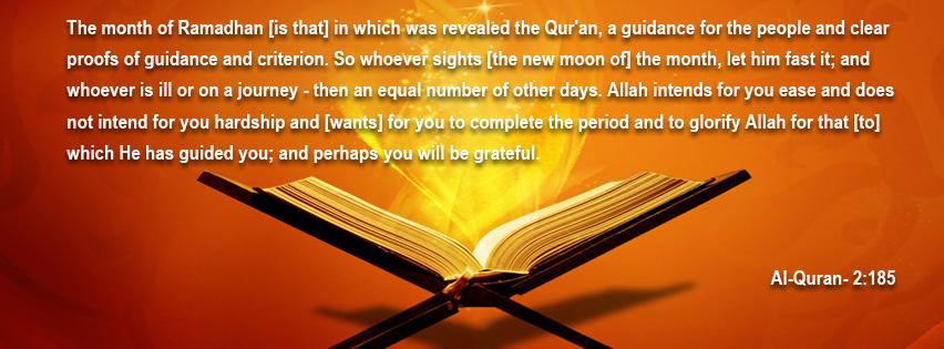 Ramadan facebook covers for u-al-quran-2-185-jpg